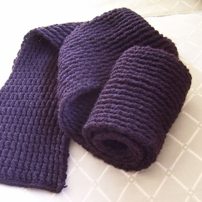 Ribbed Scarf Pattern. Ribbed Scarf - Pattern PDF
