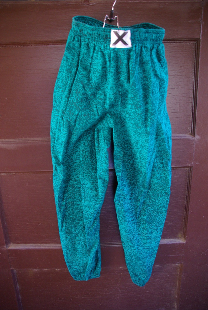 vintage 1980s mens hammer parachute pants xl by