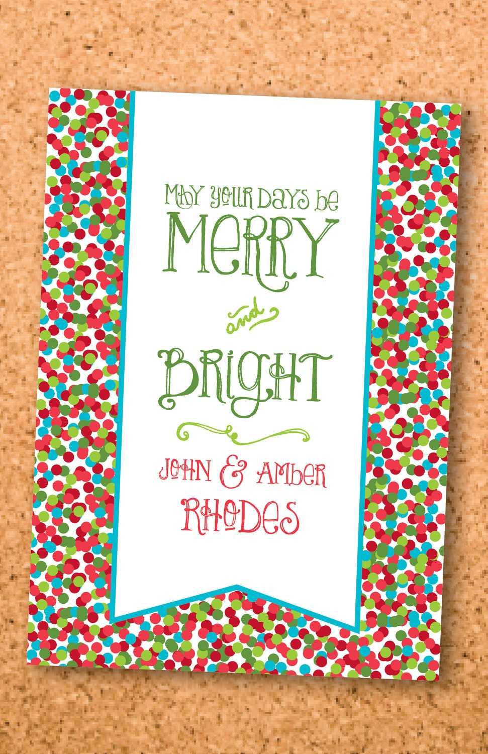 merry & bright holiday card--5x7 digital file
