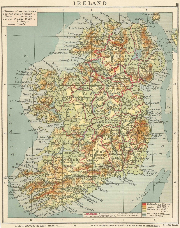 Ireland Map travel adventure maps for home decor irish Vintage Prints old maps