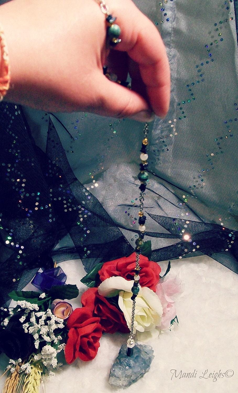 Bloodstone Heliotrope Pendulum Necklace