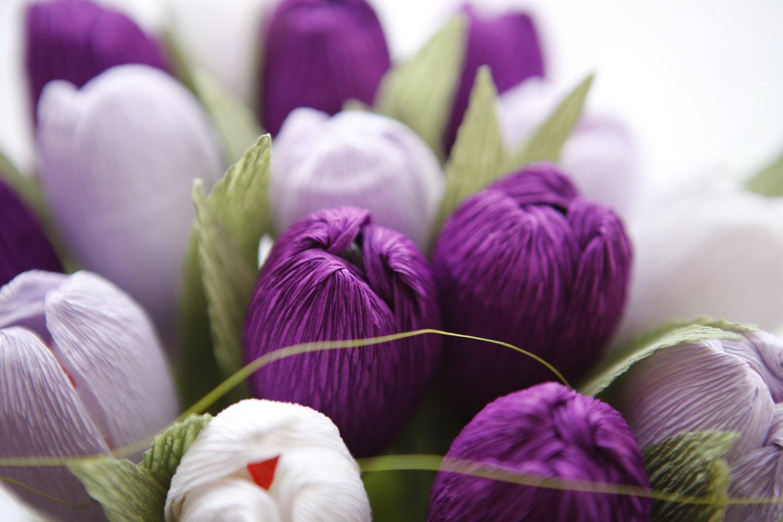 Как сделать гофрированные тюльпаны