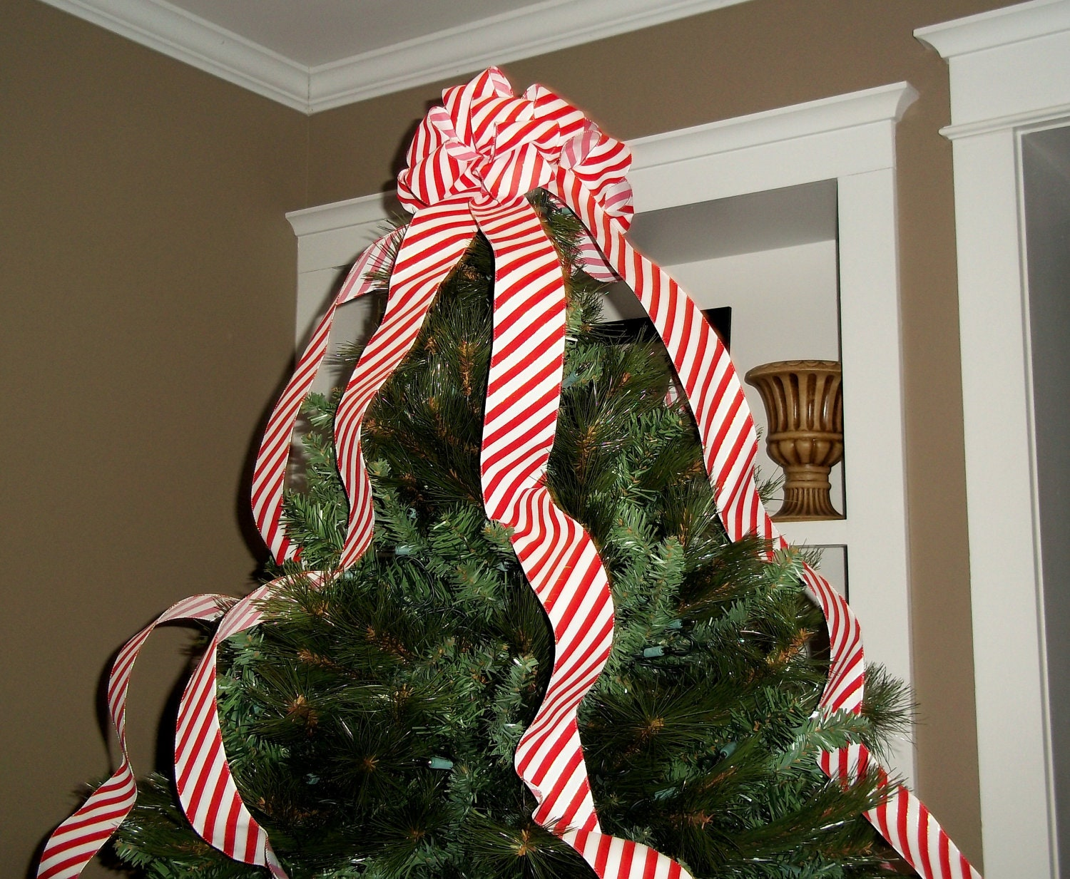 Candy Cane Christmas Tree Topper