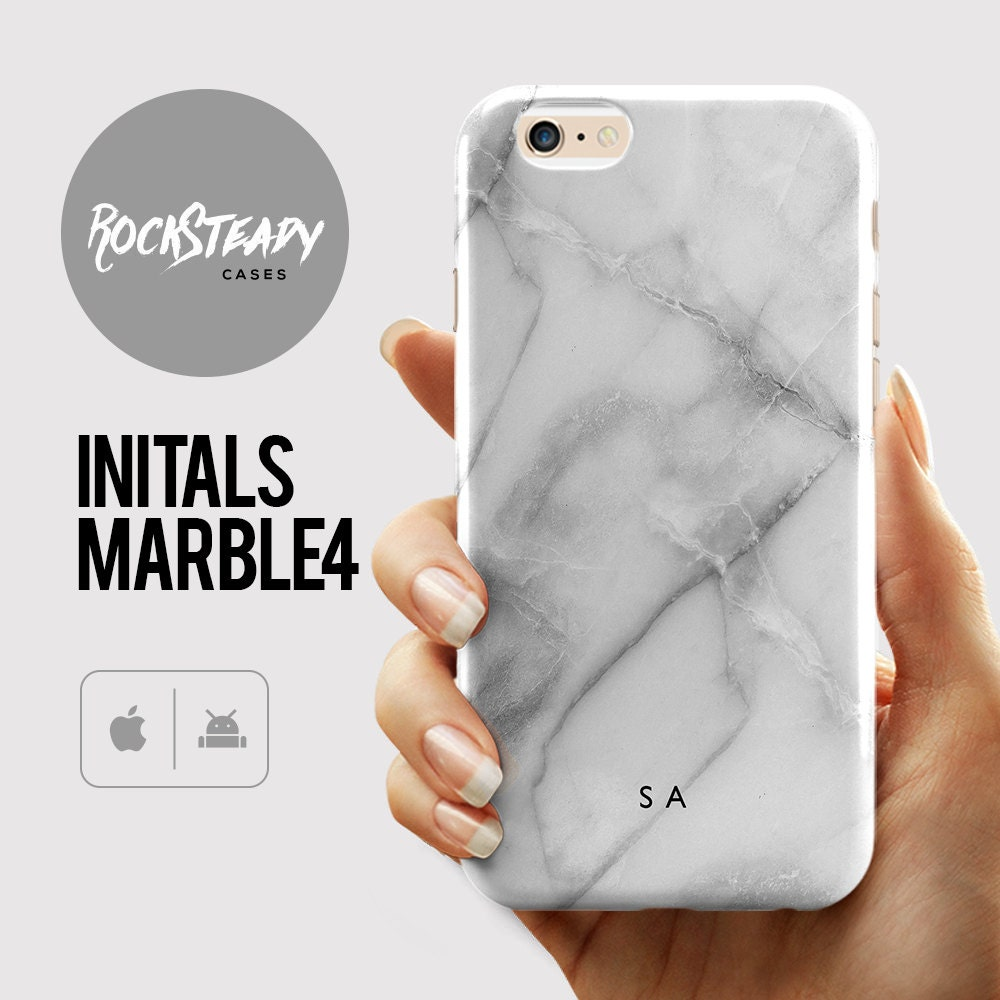 Custom Initials Marble iPhone 7 case personalised  7 Plus case gift iPhone 6s 6 Plus SE 5C 5S case personalized Galaxy S6 S7 S5