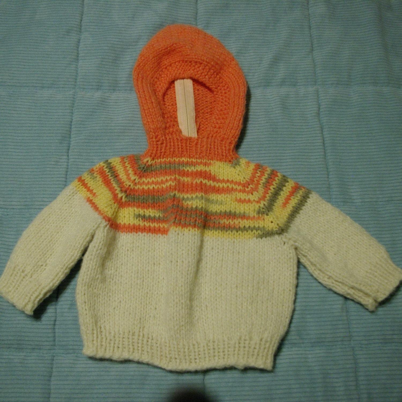 Knitted ژاکت باشلق دار عزیزم