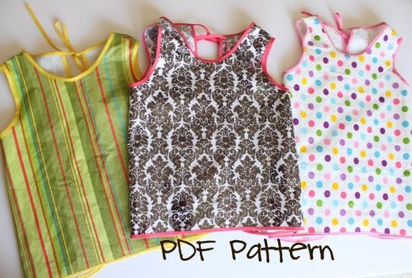 Art Smock or Apron PDF Sewing Pattern