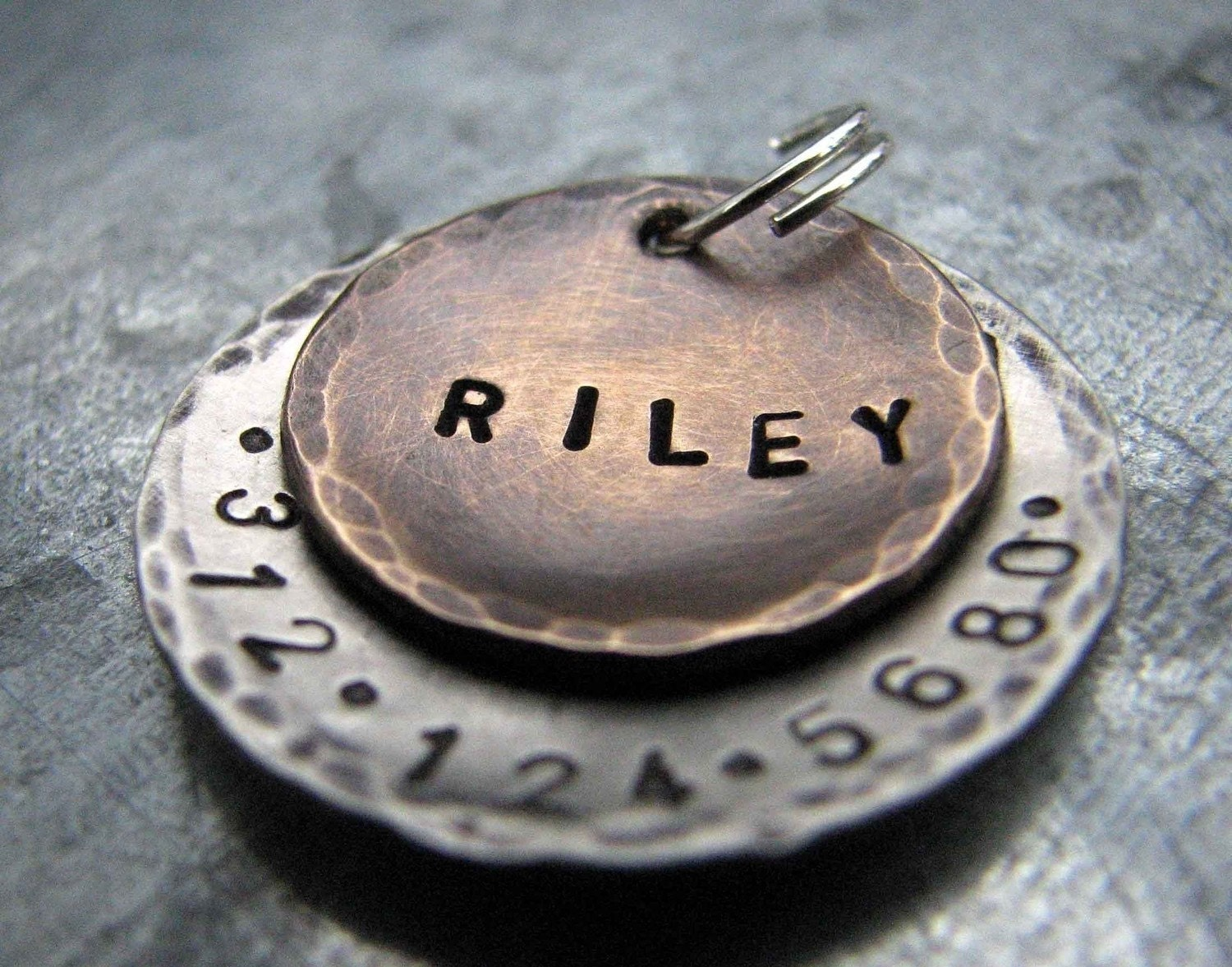 Riley  Pet ID Tag, in Mixed Metal