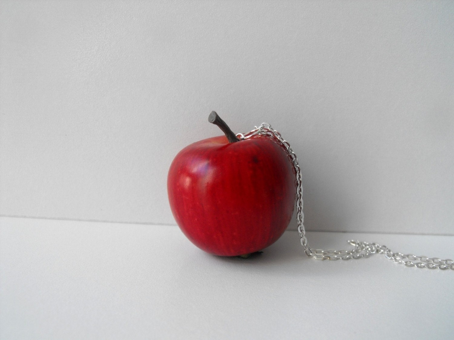 Petite Pomme Red Apple Necklace