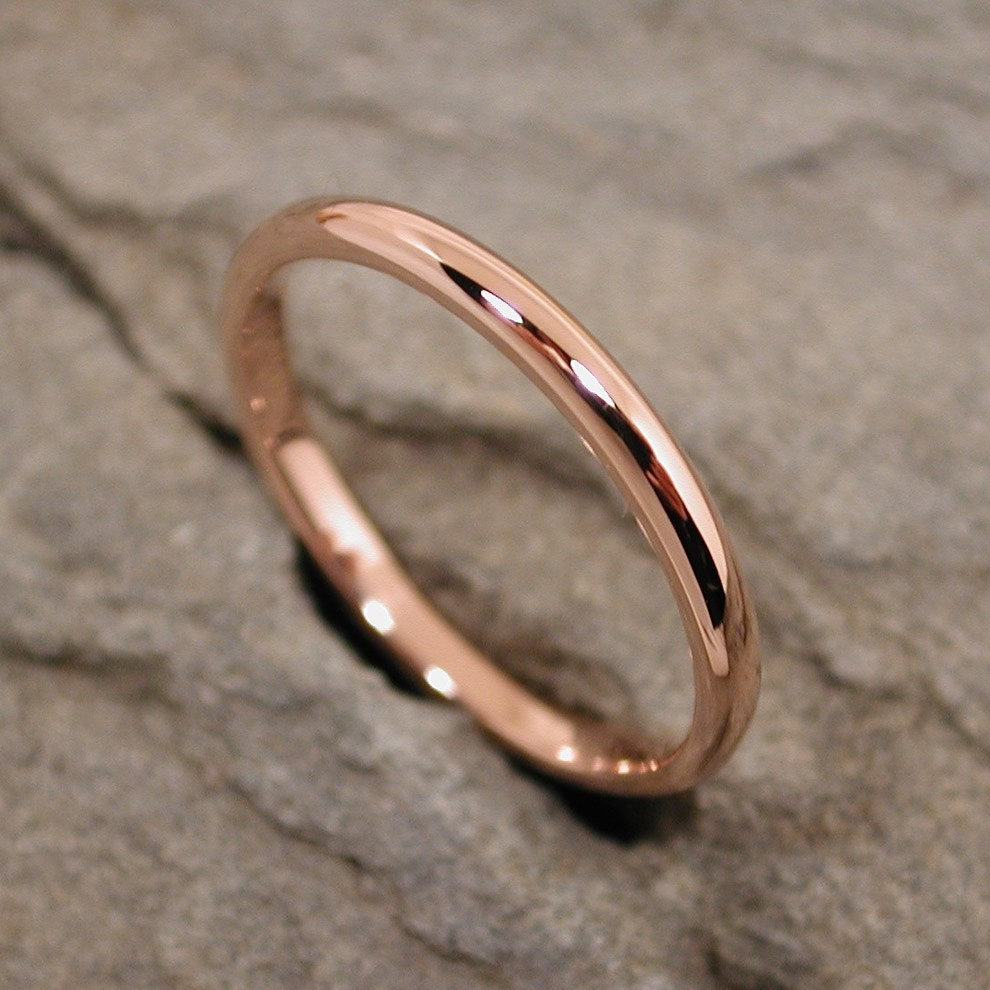 Romantic 14k pink rose gold ring band by sarantos from etsy.com