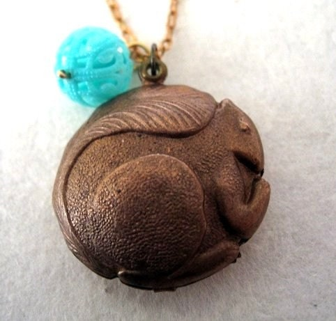 Etsy :: Moody Squirrel -n- Extra Fancy Nut necklace from etsy.com