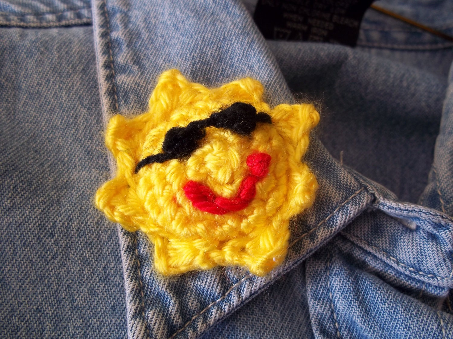 Cool Dude Sunshine Embellishment/Applique