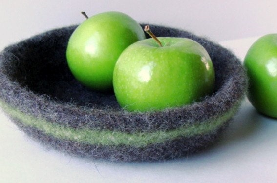 Felted Wool Bowl - Natural