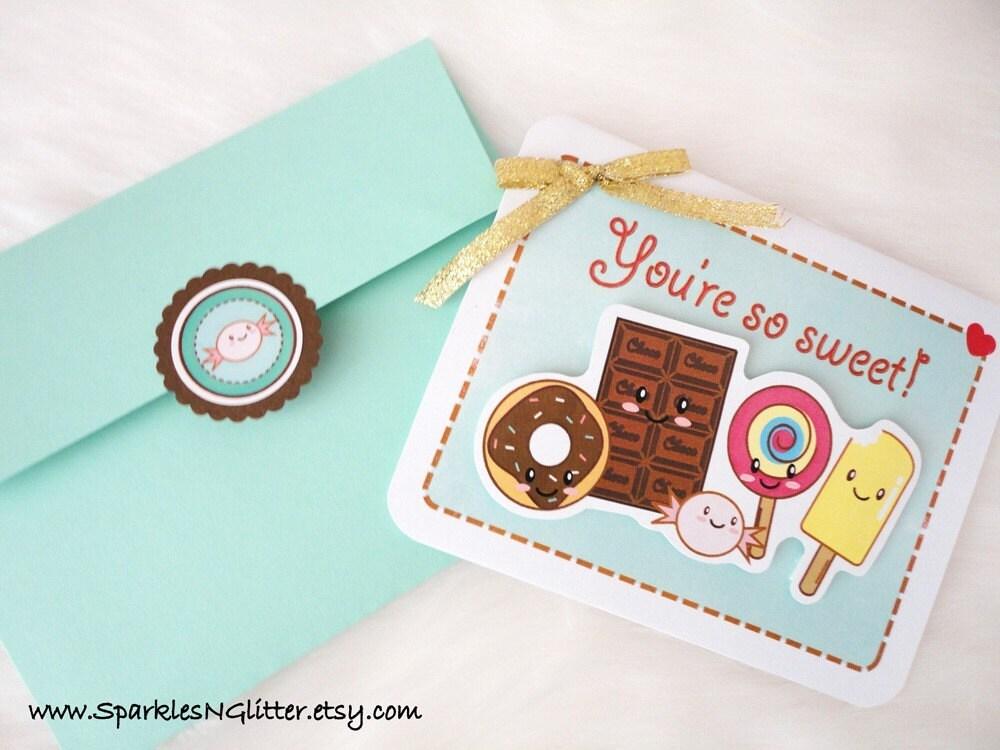 You're So Sweet Kawaii 3D Card