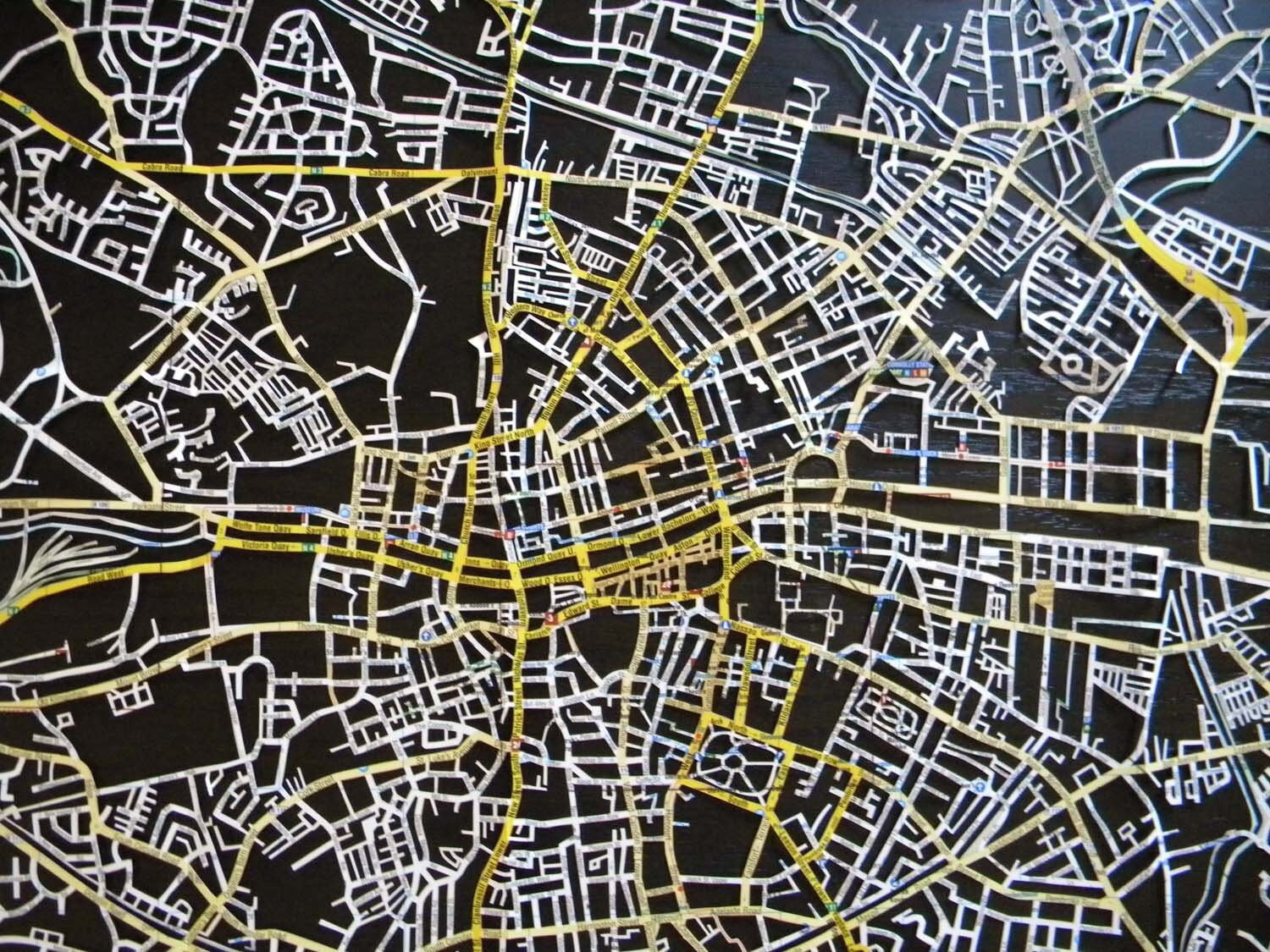 NEW dublin, hand cut map AVAILABLE NOW