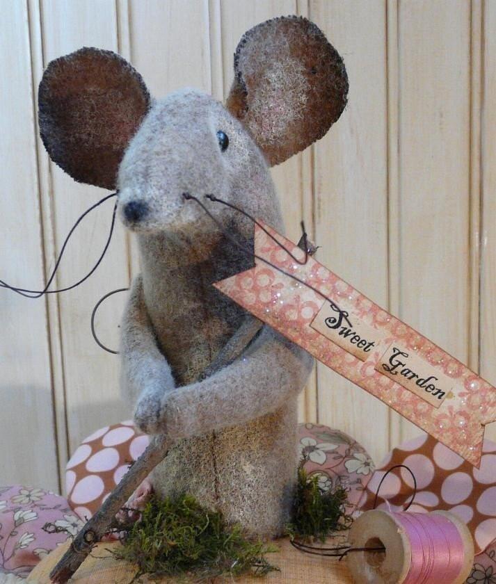 Lil Posie Amp Mouse Pin Keep Pdf Pattern Big Pincushion