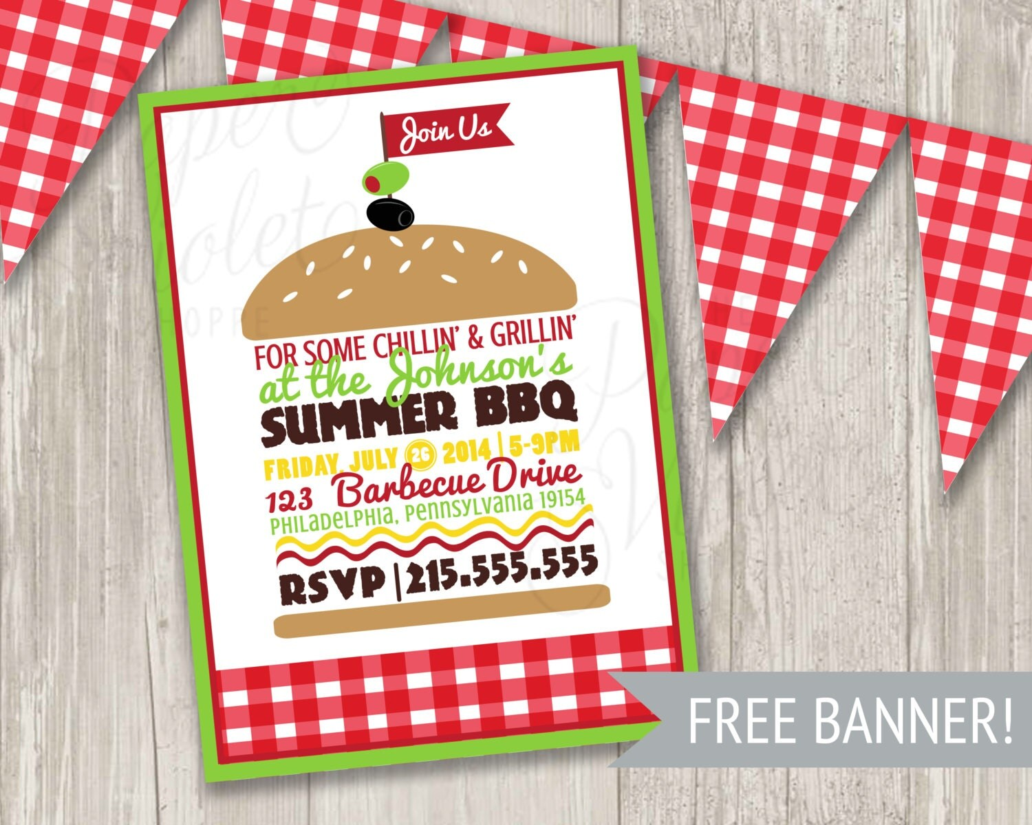 Bbq picnic invitation template free