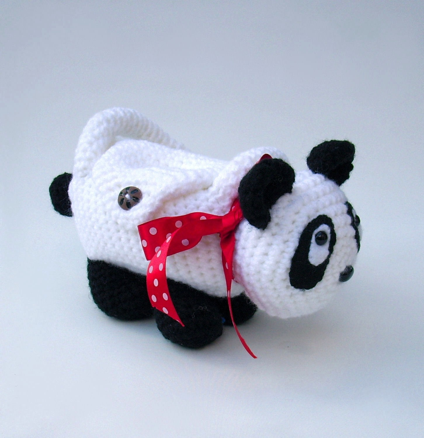 Crochet Animal Bag Free Pattern : Panda purse Crochet animal bag for children Pippa the by ...