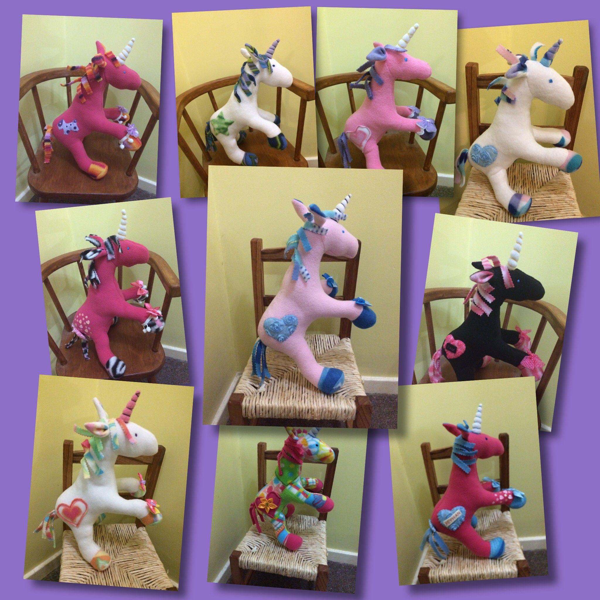 Unicorn plush toy Soft Toy unicorn Stuffed Animal gift idea birthday gift idea. Childs gift  unicorn lover made for you personslised.