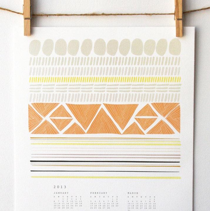 2013 Shapes Wall Calendar