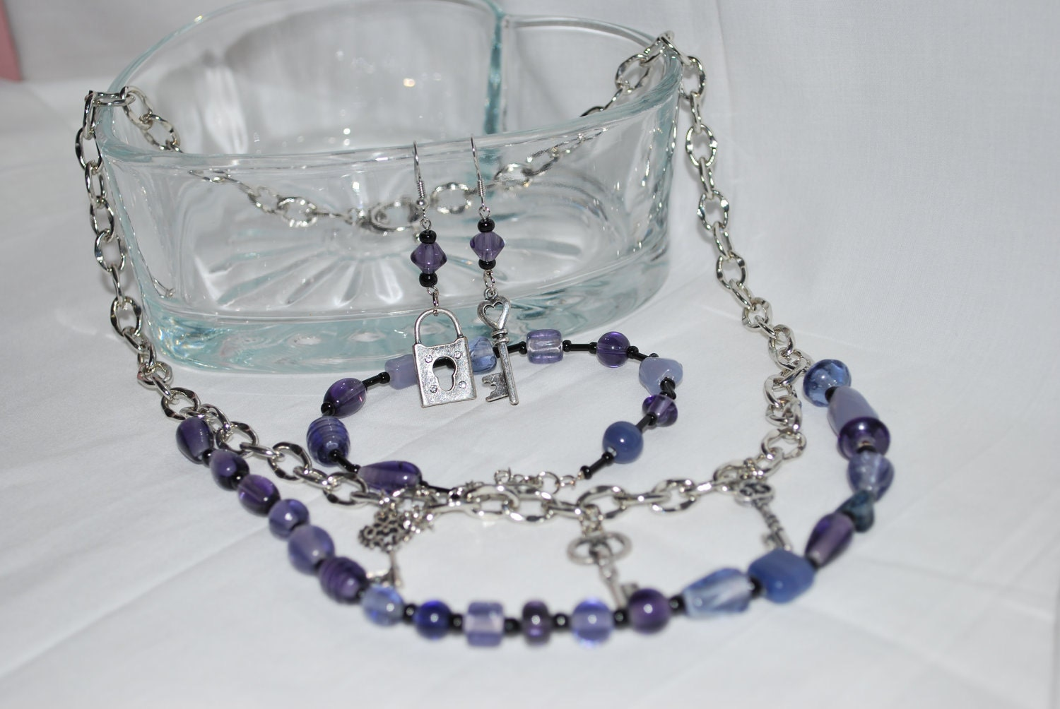 In the Key Of Purple Jewelry Set