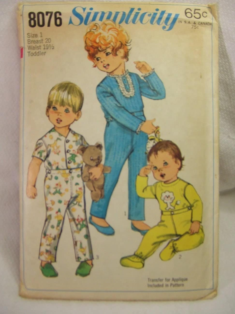 Simplicity Sewing Pattern 8076 Toddler Pajamas