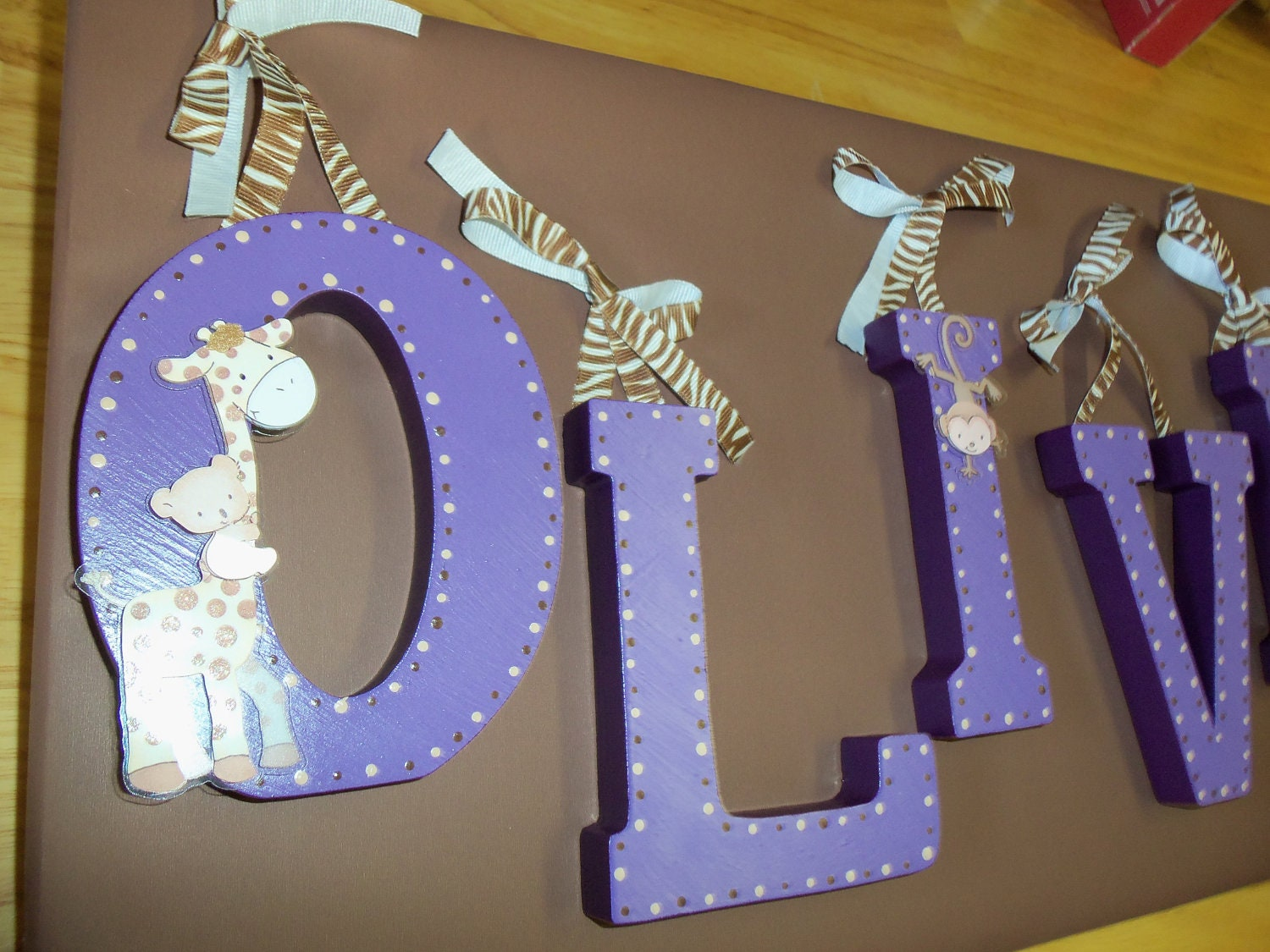 Hand Painted Wooden Letters For Nursery Decor Kids By