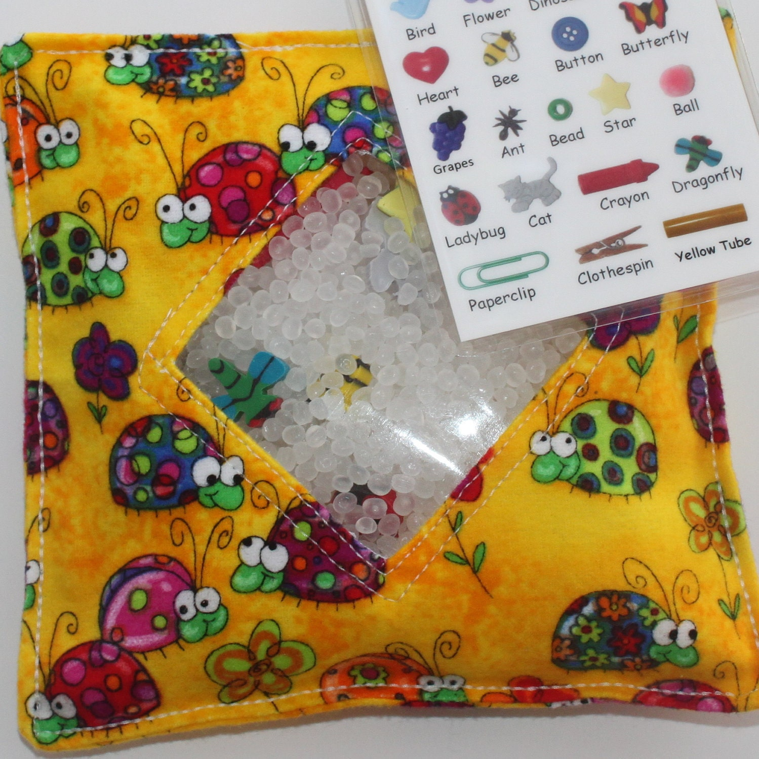 I Spy Bag - BUGABOOS Treasure Hunt with Picture Card - All sales helps support our sports activities and summer camps.