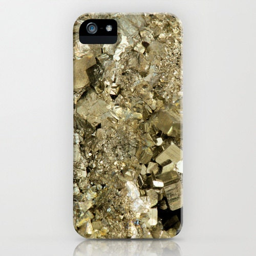 iPhone or Samsung Galaxy Cell Phone Case - Crystal Pyrite / Fools