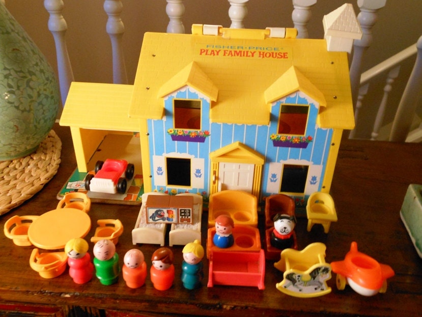 Reserved Vintage Little People Fisher Price House By Wrathofra