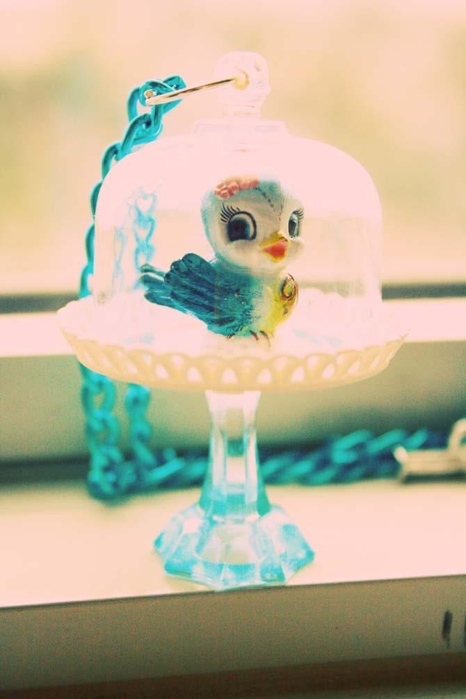 Sweet Blue Bird necklace