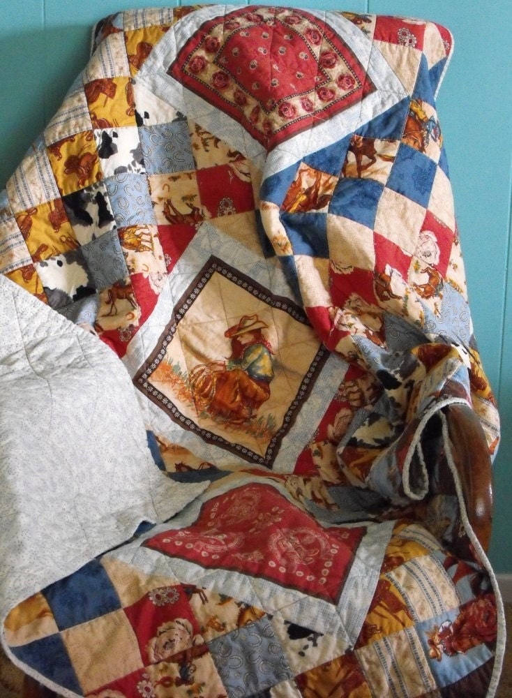 Cowgirls on the Range Lap Quilt