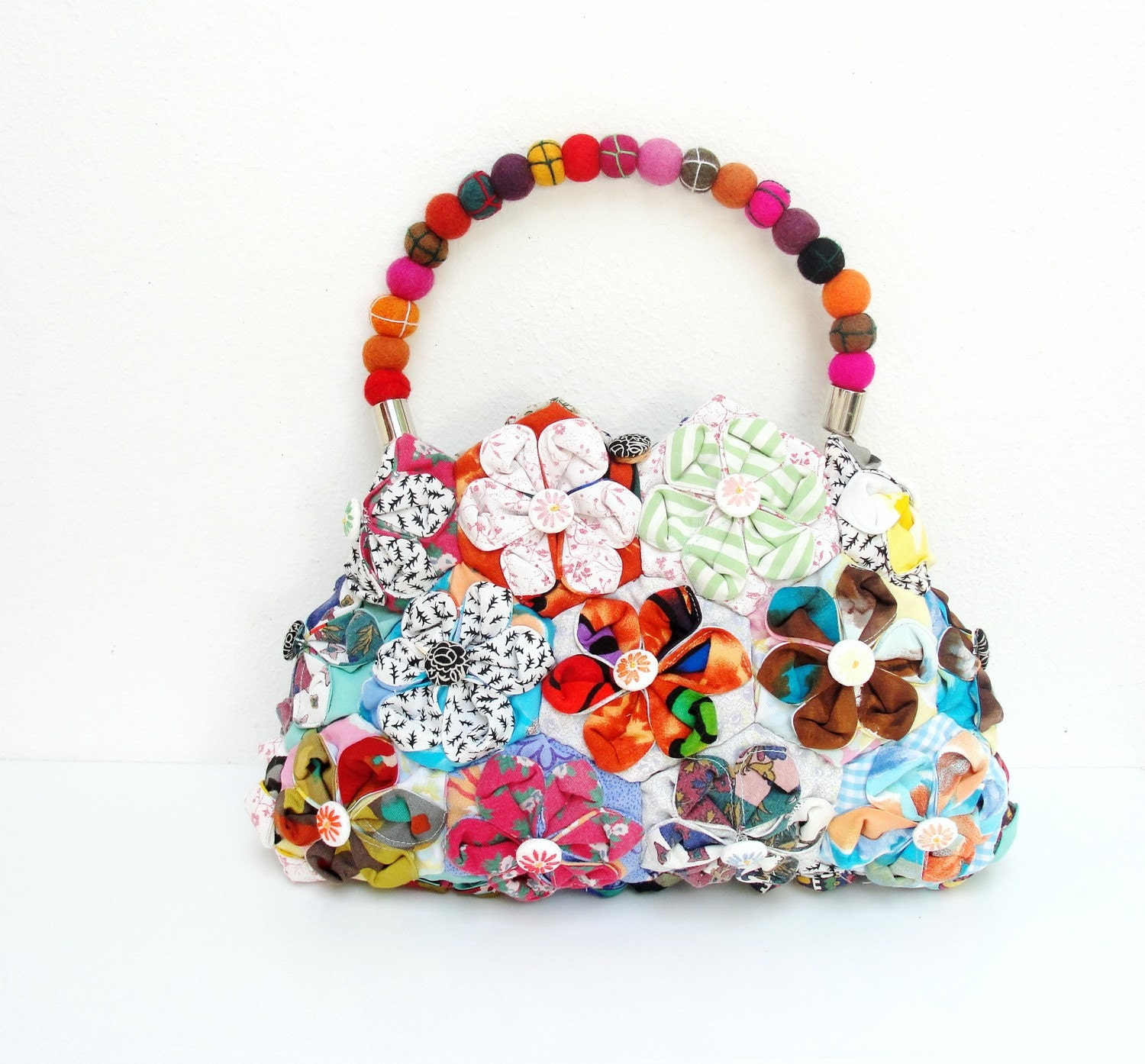 Orinuno Bag - Handfolded and Sewn Flowers