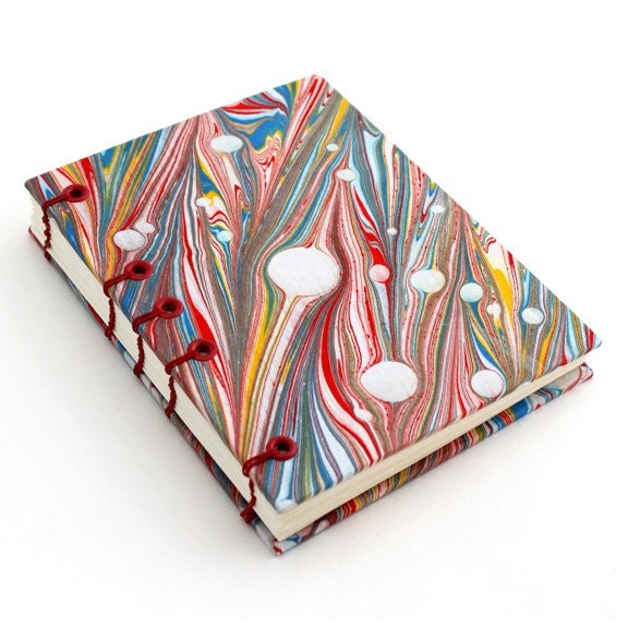Zebra marbled coptic stitch journal