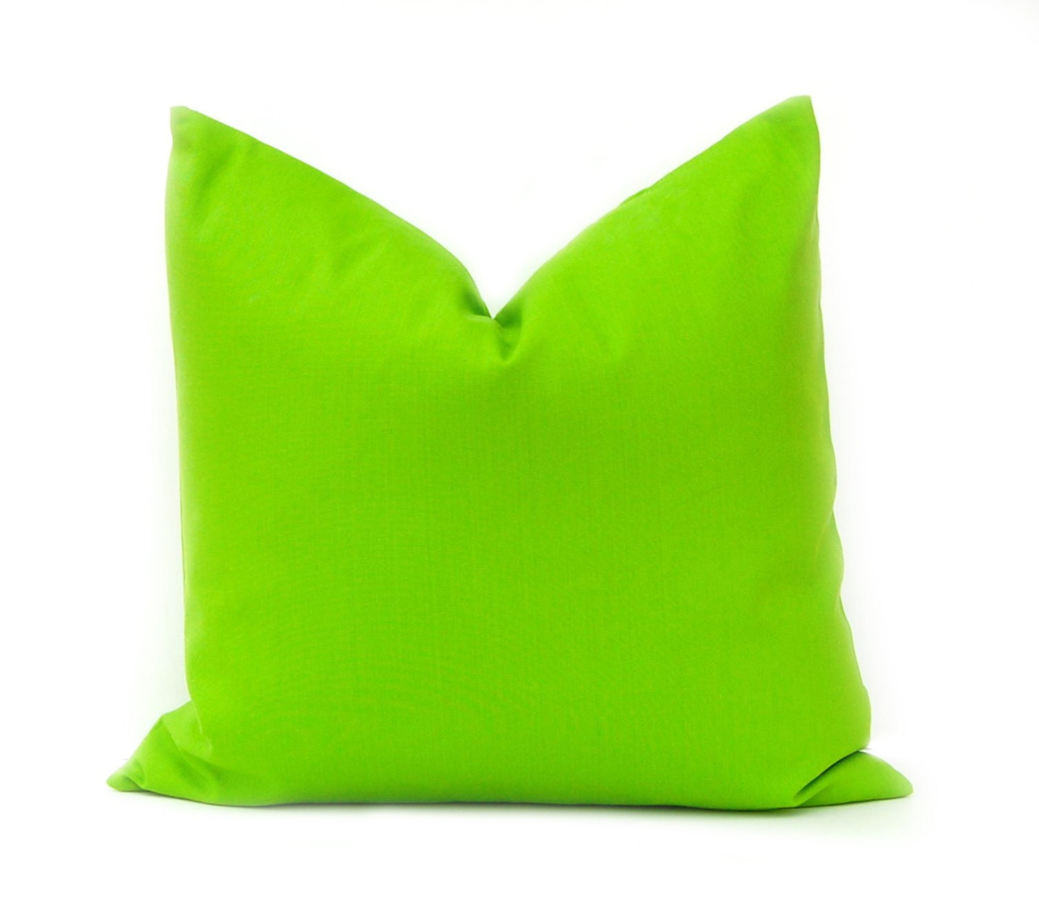 Decorative Pillow Green : Green Pillow Cover Decorative Throw Pillow by FestiveHomeDecor