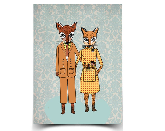 Fantastic Foxes - 8.5 x 11 Poster