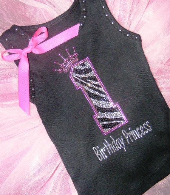 1 DIY 1st 2nd Birthday Princess Hot Pink Zebra By