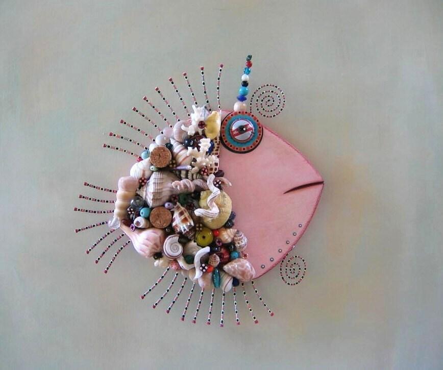 Mollusques et crustacés, Original objet trouvé Wall Art par Studio de confiture de figue