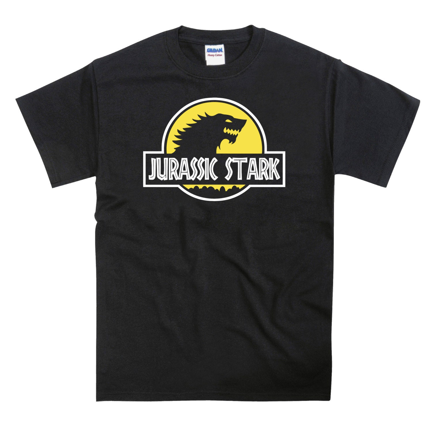 Jurassic Park GOT Game Thrones Stark Parody Tshirt (YELLOW VER)