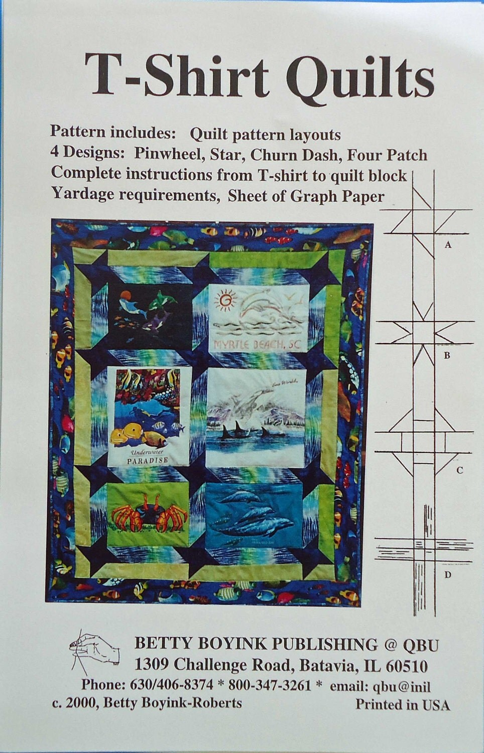 T Shirt Quilt Pattern Book : T-Shirt Quilts Sewing Pattern by ThePatternShack on Etsy