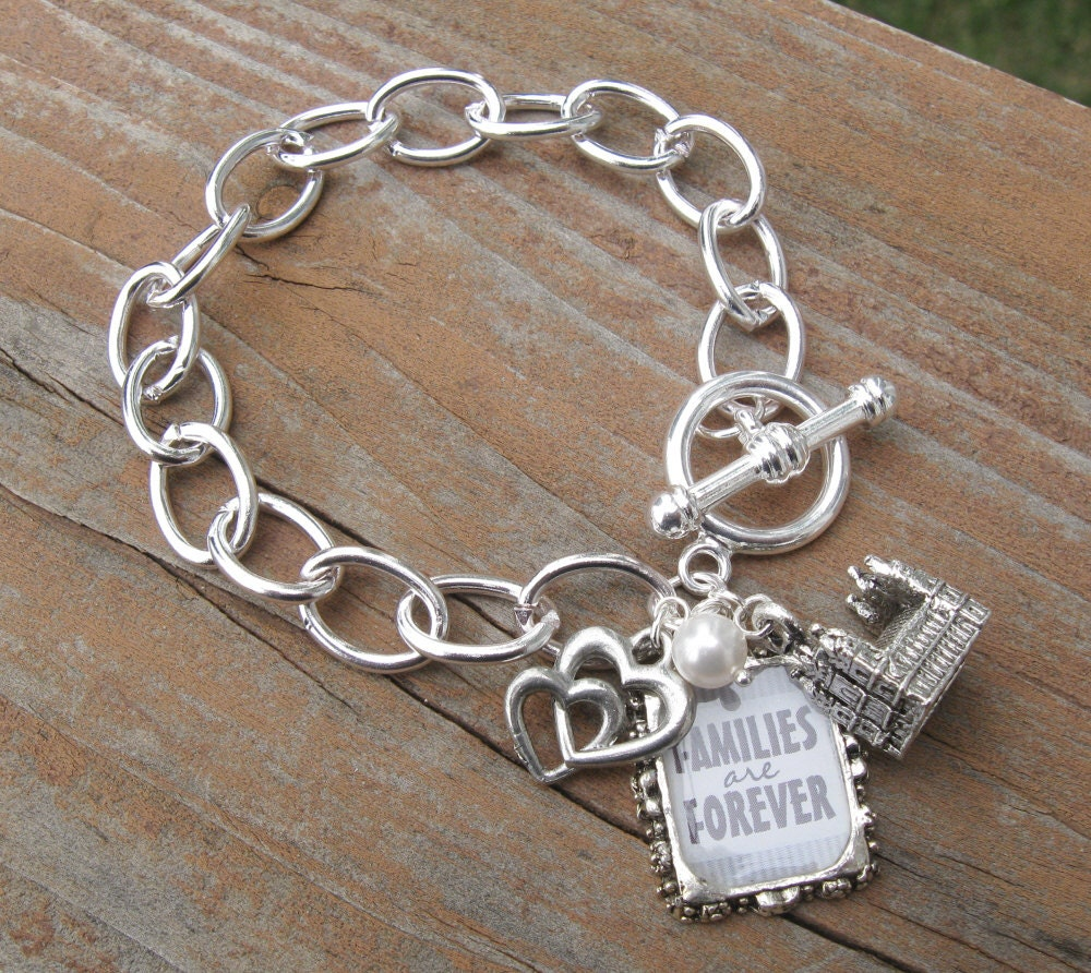 Families are Forever Large Link Chain Bracelet - LDS - PrincessCameos