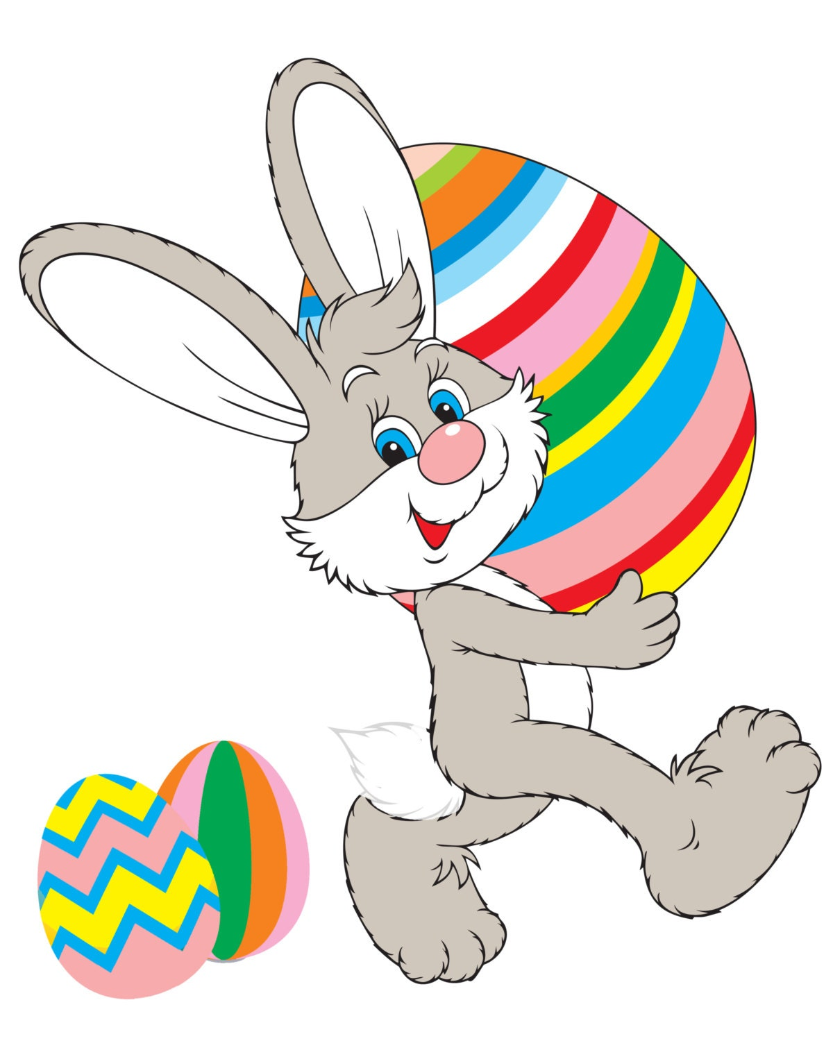 Nifty image in pin the tail on the bunny printable