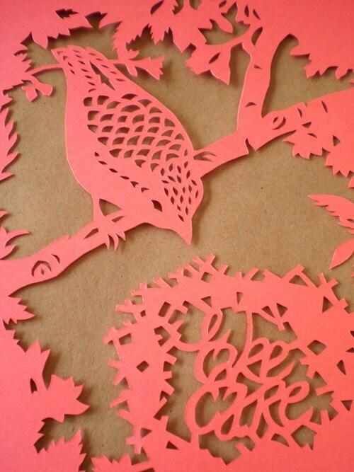 Take Care Bird papercut