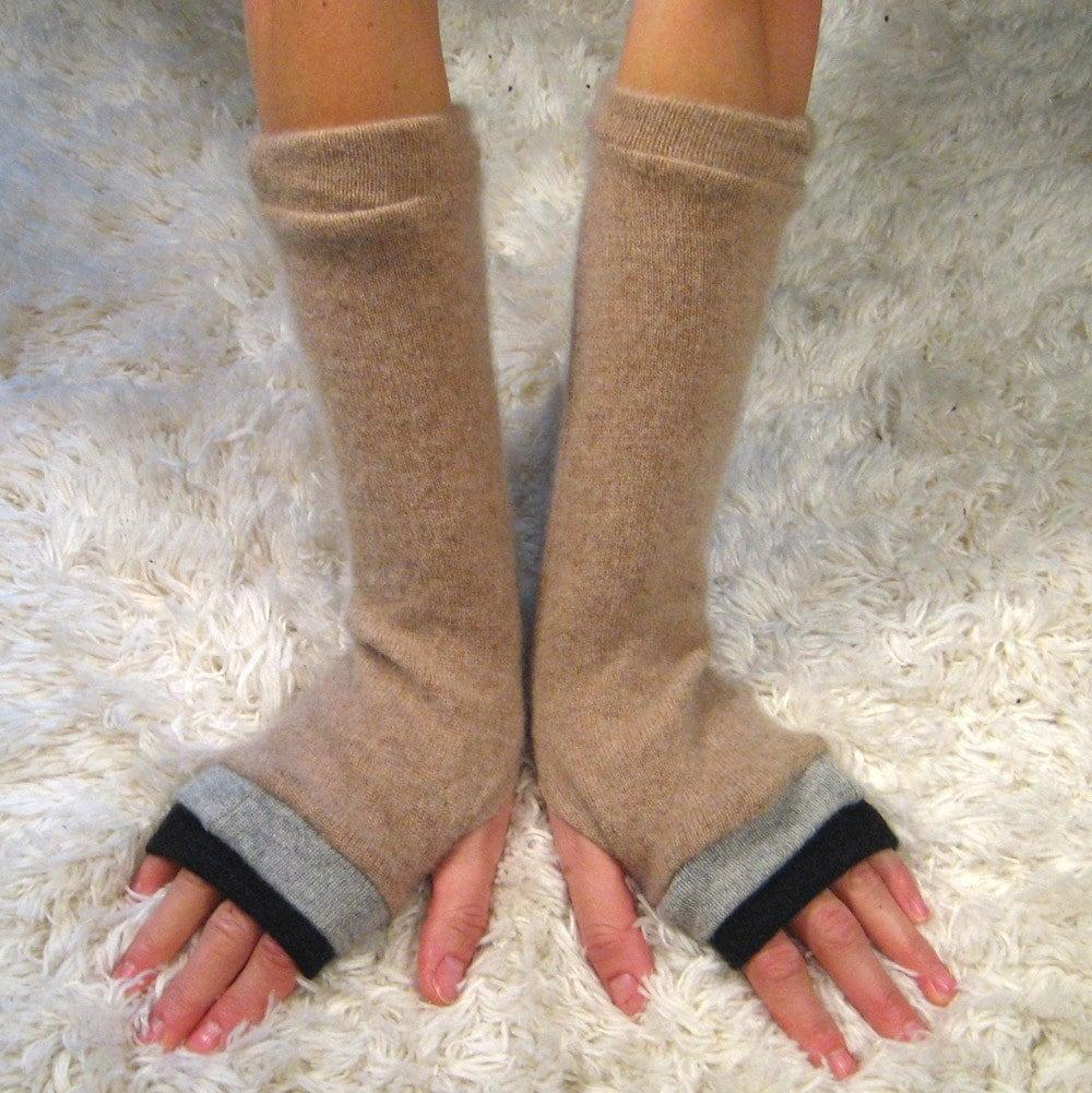 gloves, fingerless, cashmere