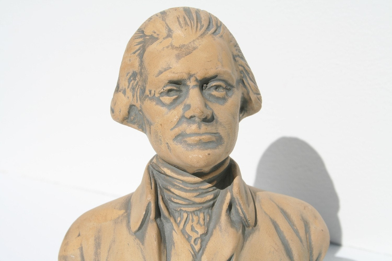 Hand Made Ceramic Bust of Thomas Jefferson