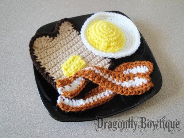 4 piece Crochet Breakfast Set
