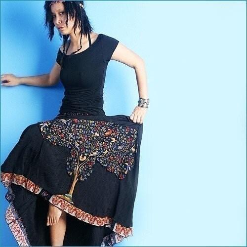 کمی بودا دامن پیراهن زنانه دامن بلند (Q1004)