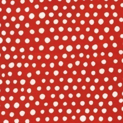 Jennifer Moore for Monaluna Mingle Dots on Red Fabric - By the Yard