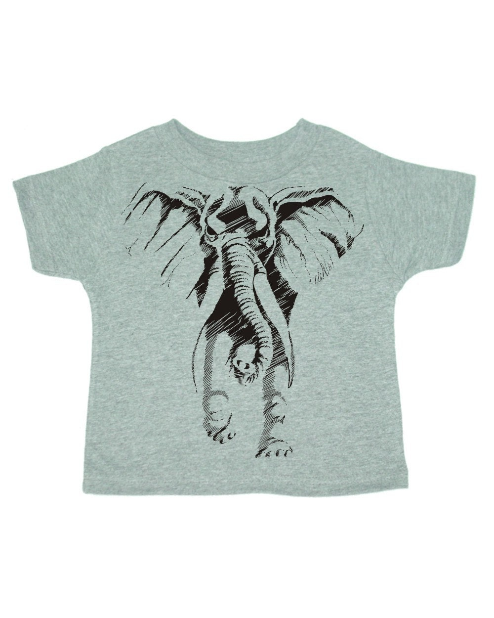 Ghost Elephant on Infants Rabbit Skins Short Sleeve tee