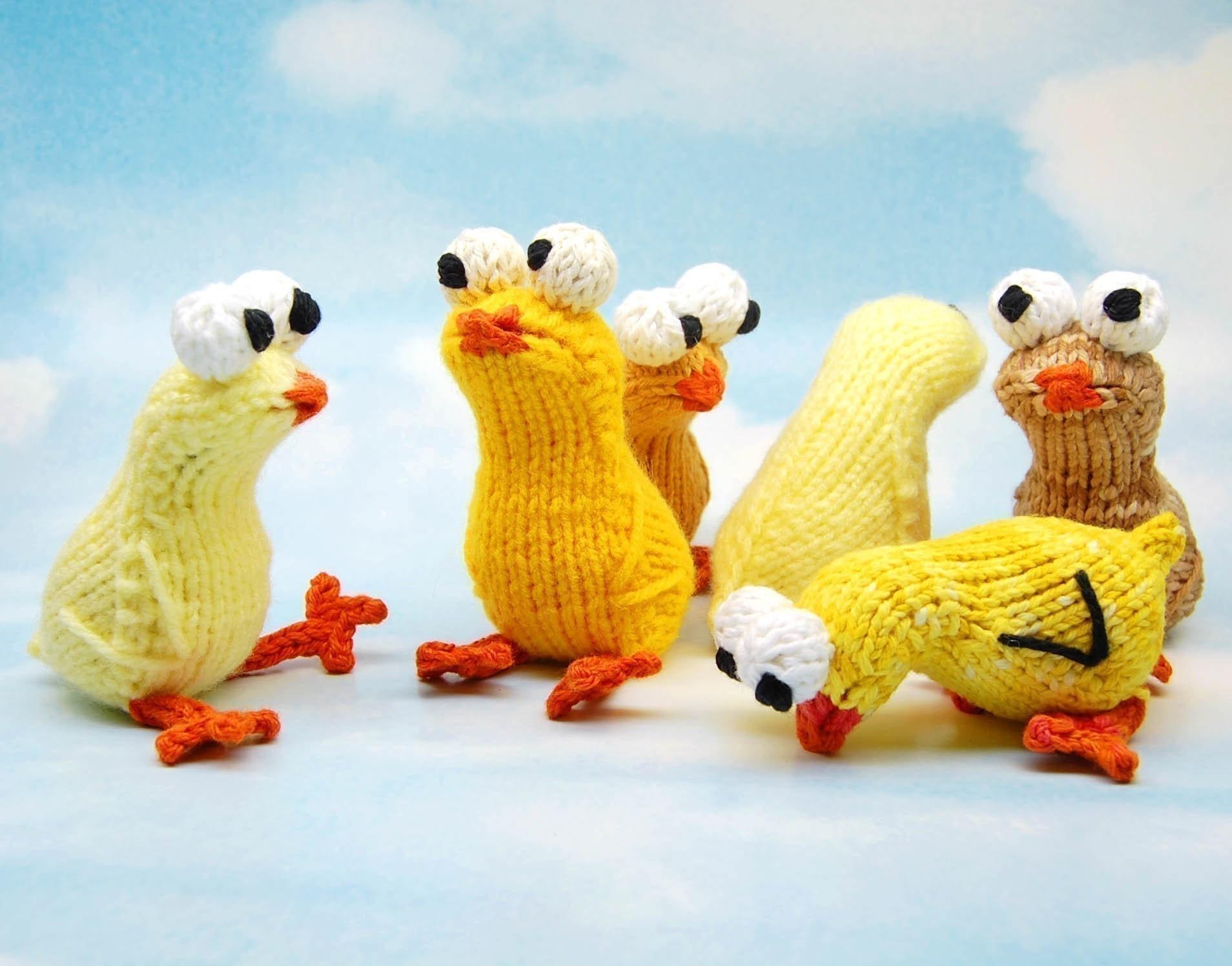 Free Crochet Pattern Amigurumi Bear : Chickies Amigurumi Easter Chick Plush Toy Knitting by ...