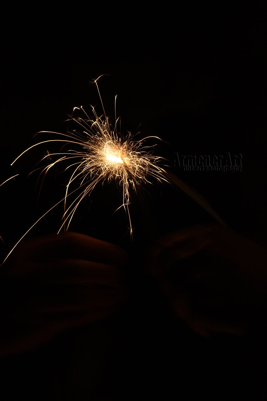 "CanvasPrint - Various sizes available ""Made for Two"" New Years Eve Sparklers Fireworks - ArmenerArt"